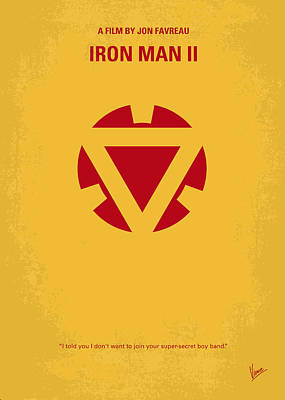Stark Digital Art - No113 My Iron Man Minimal Movie Posterno113-2 My Iron Man 2 Minimal Movie Poster by Chungkong Art