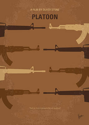 Vietnam Digital Art - No115 My Platoon Minimal Movie Poster by Chungkong Art