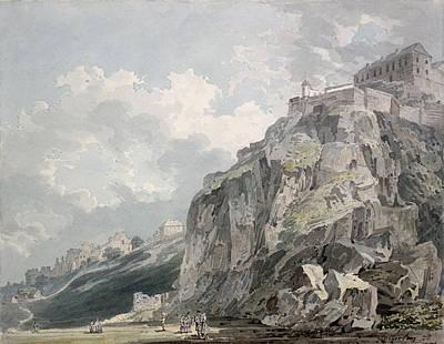 Street Drawing - No.1187 The Castle Rock, Edinburgh by Thomas Girtin