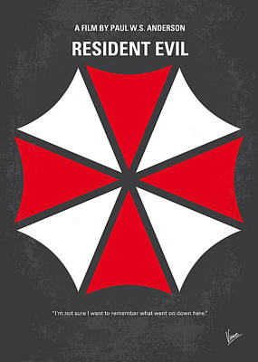 Drama Digital Art - No119 My Resident Evil Minimal Movie Poster by Chungkong Art