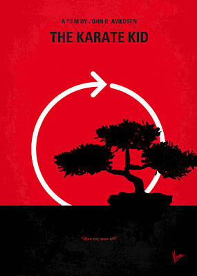 No125 My Karate Kid Minimal Movie Poster Print by Chungkong Art