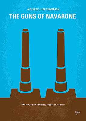 No168 My The Guns Of Navarone Minimal Movie Poster Print by Chungkong Art