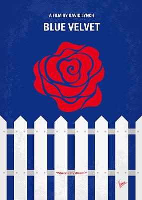 No170 My Blue Velvet Minimal Movie Poster Print by Chungkong Art