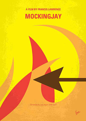 Fight Digital Art - No175-3 My Mockingjay - The Hunger Games Minimal Movie Poster by Chungkong Art