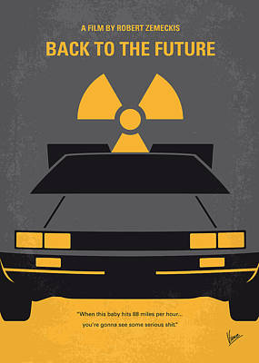 Minimalist Digital Art - No183 My Back To The Future Minimal Movie Poster by Chungkong Art