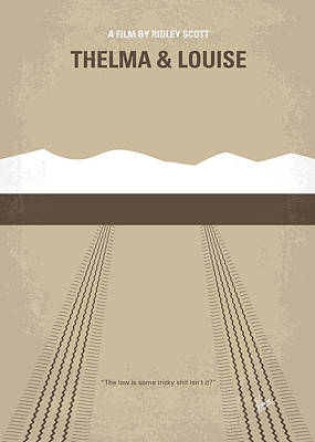 No189 My Thelma And Louise Minimal Movie Poster Print by Chungkong Art