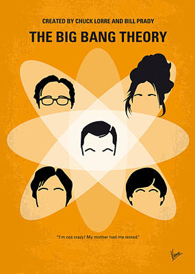 No196 My The Big Bang Theory Minimal Poster Print by Chungkong Art