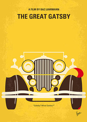 Minimal Digital Art - No206 My The Great Gatsby Minimal Movie Poster by Chungkong Art