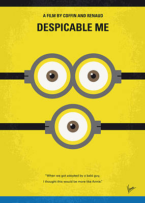 No213 My Despicable Me Minimal Movie Poster Print by Chungkong Art
