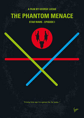 No223 My Star Wars Episode I The Phantom Menace Minimal Movie Poster Print by Chungkong Art