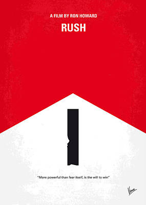 Crashing Digital Art - No228 My Rush Minimal Movie Poster by Chungkong Art