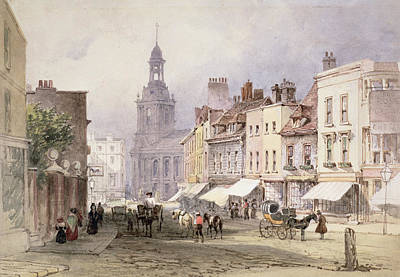 Street Drawing - No.2351 Chester, C.1853 by William Callow