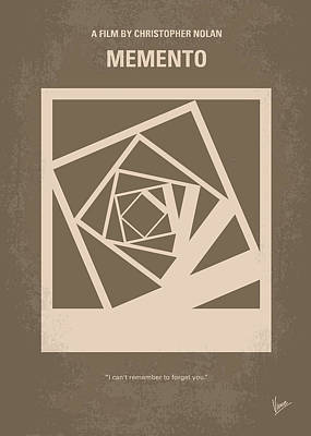 Guy Digital Art - No243 My Memento Minimal Movie Poster by Chungkong Art