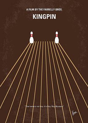 Bowling Digital Art - No244 My Kingpin Minimal Movie Poster by Chungkong Art