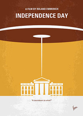 Washington Digital Art - No249 My Independence Day Minimal Movie Poster by Chungkong Art