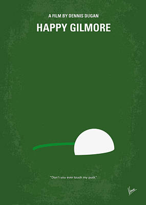 No256 My Happy Gilmore Minimal Movie Poster Print by Chungkong Art