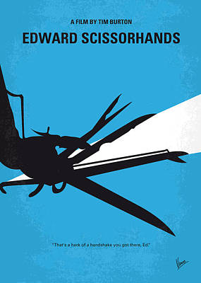 Castle Digital Art - No260 My Scissorhands Minimal Movie Poster by Chungkong Art