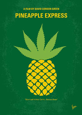 Express Digital Art - No264 My Pineapple Express Minimal Movie Poster by Chungkong Art