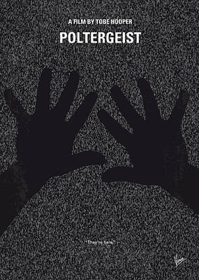 No266 My Poltergeist Minimal Movie Poster Print by Chungkong Art