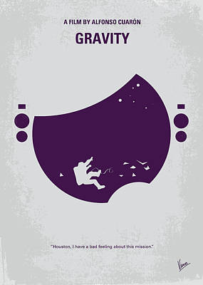 Astronauts Digital Art - No269 My Gravity Minimal Movie Poster by Chungkong Art