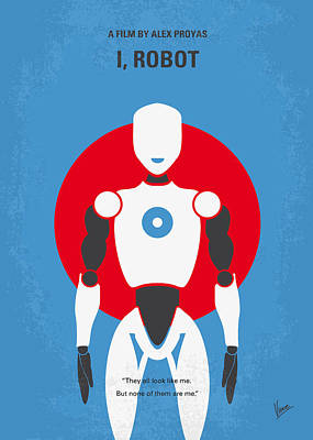 Robot Digital Art - No275 My I Robot Minimal Movie Poster by Chungkong Art