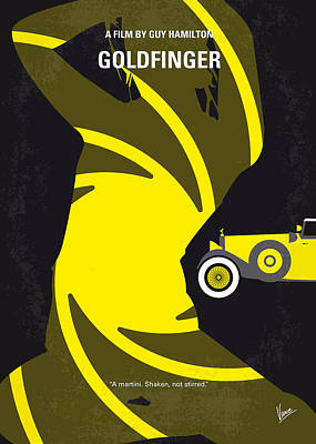 Cult Digital Art - No277-007 My Goldfinger Minimal Movie Poster by Chungkong Art