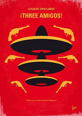 No285 My Three Amigos Minimal Movie Poster Print by Chungkong Art