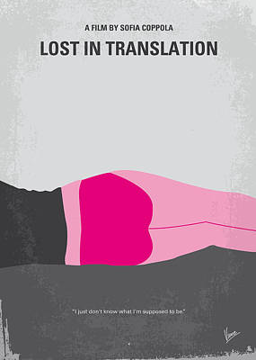 No287 My Lost In Translation Minimal Movie Poster Print by Chungkong Art