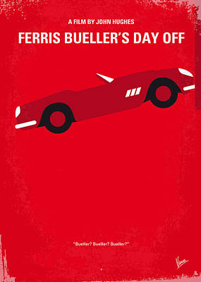 No292 My Ferris Bueller's Day Off Minimal Movie Poster Print by Chungkong Art