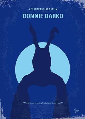 No295 My Donnie Darko Minimal Movie Poster Print by Chungkong Art