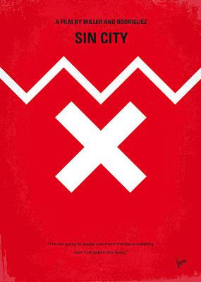 No304 My Sin City Minimal Movie Poster Print by Chungkong Art