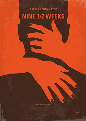No305 My Nine Half Weeks Minimal Movie Poster Print by Chungkong Art