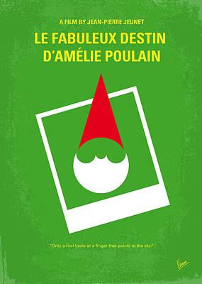 Paris Digital Art - No311 My Amelie Minimal Movie Poster by Chungkong Art