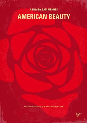 Crisis Digital Art - No313 My American Beauty Minimal Movie Poster by Chungkong Art