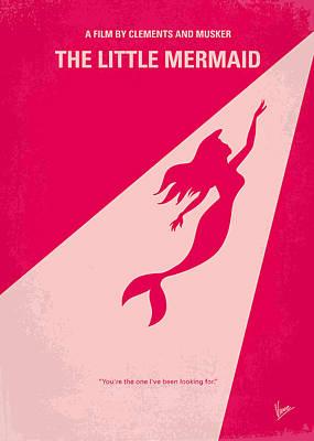 No314 My Mermaid Minimal Movie Poster Print by Chungkong Art