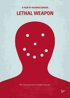 No327 My Lethal Weapon Minimal Movie Poster Print by Chungkong Art
