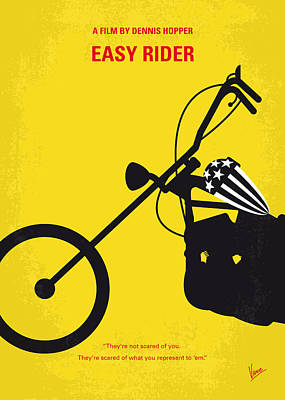 George Digital Art - No333 My Easy Rider Minimal Movie Poster by Chungkong Art