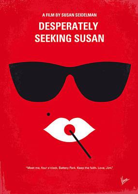 Susan Digital Art - No336 My Desperately Seeking Susan Minimal Movie Poster by Chungkong Art