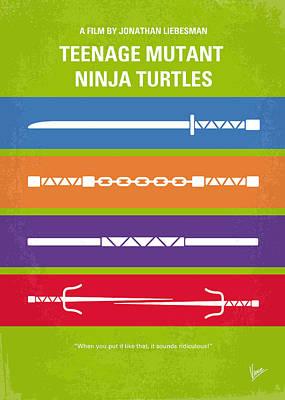 No346 My Teenage Mutant Ninja Turtles Minimal Movie Poster Print by Chungkong Art