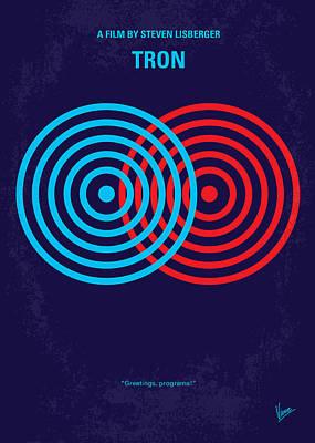 No357 My Tron Minimal Movie Poster Print by Chungkong Art