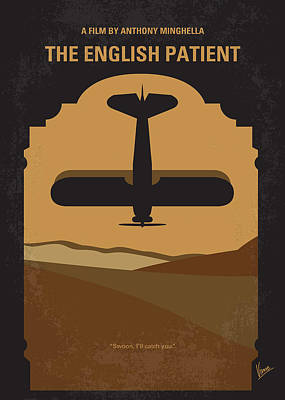 Crashing Digital Art - No361 My The English Patient Minimal Movie Poster by Chungkong Art