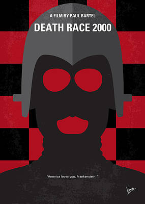 Run-down Digital Art - No367 My Death Race 2000 Minimal Movie Poster by Chungkong Art