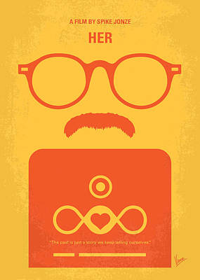 No372 My Her Minimal Movie Poster Print by Chungkong Art