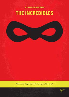No368 My Incredibles Minimal Movie Poster Print by Chungkong Art