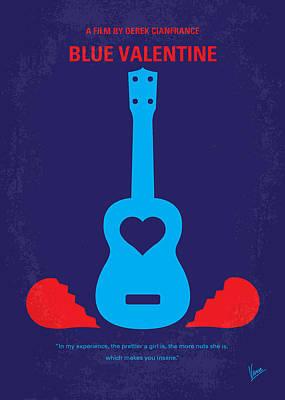 No379 My Blue Valentine Minimal Movie Poster Print by Chungkong Art