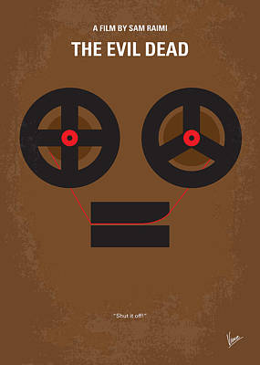 No380 My The Evil Dead Minimal Movie Poster Print by Chungkong Art