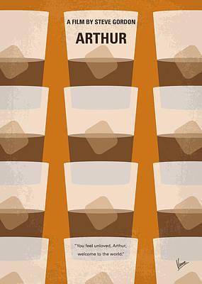 Happy Digital Art - No383 My Arthur Minimal Movie Poster by Chungkong Art
