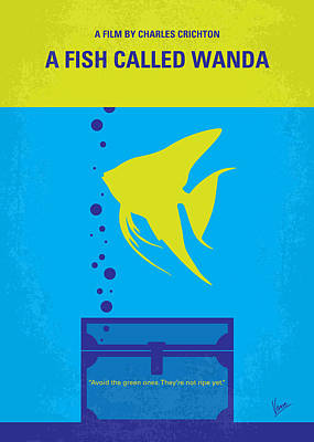 No389 My A Fish Called Wanda Minimal Movie Poster Print by Chungkong Art