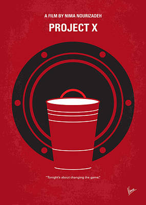No393 My Project X Minimal Movie Poster Print by Chungkong Art