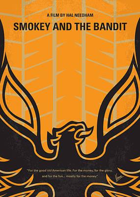 No398 My Smokey And The Bandits Minimal Movie Poster Print by Chungkong Art